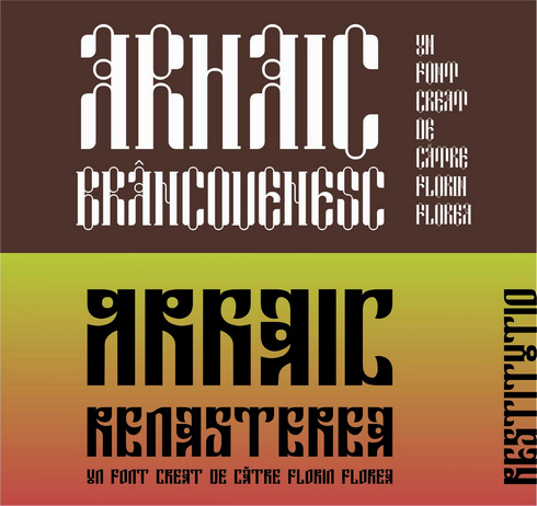 New Archaic Romanian fonts