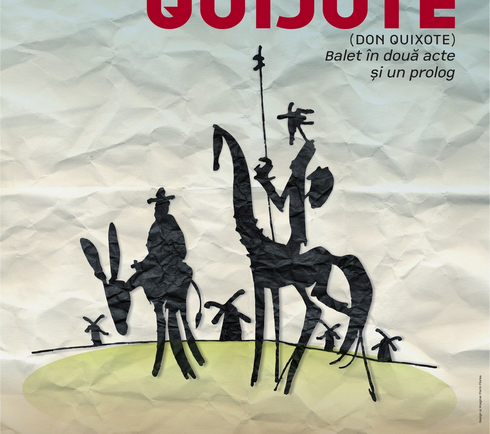 illustration for Don Quijote poster and banners