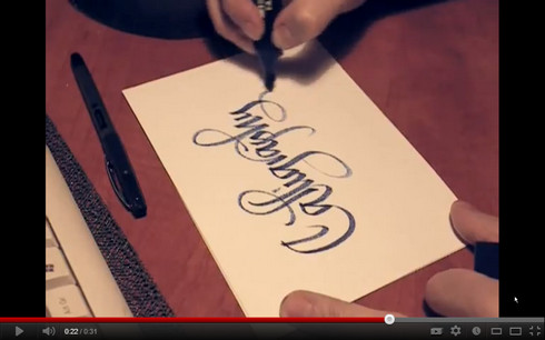 Marker Calligraphy video