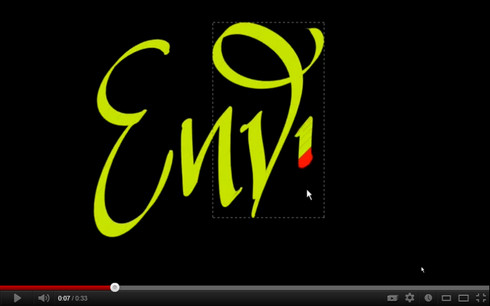 Envy - Digital Calligraphy video